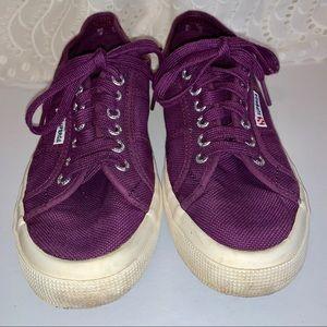 Superga purple canvas sneakers size 8